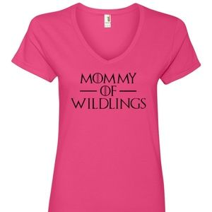 Mommy of Wildlings Women's V-neck t-shirt